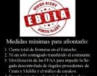 Ante el primer contagio de un profesional médico por el virus del ébola.