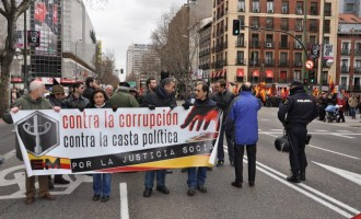 Manifestación contra la casta y la corrupción
