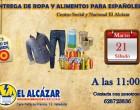 Entrega de ropa y alimentos a españoles CSyN El Alcázar<br><span style='color:#006EAF;font-size:12px;'>Valladolid</span>