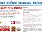 Persecución de cristianos en Kosovo<br><span style='color:#006EAF;font-size:12px;'>CONFERENCIA (MADRID, 5 MARZO)</span>