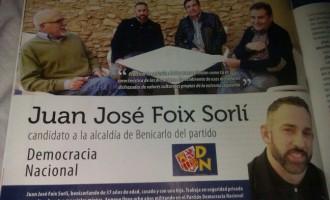 Entrevista en prensa a Juan José Foix<br><span style='color:#006EAF;font-size:12px;'>CANDIDATO POR DN EN BENICARLÓ (CASTELLÓN)</span>