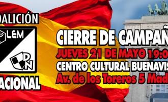 MADRID NACIONAL<br><span style='color:#006EAF;font-size:12px;'>CIERRE DE CAMPAÑA. ELECCIONES 2015.</span>