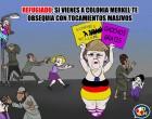 """""""¡Fuera Merkel!""""<br><span style='color:#006EAF;font-size:12px;'>Tensa manifestación en Colonia</span>"""
