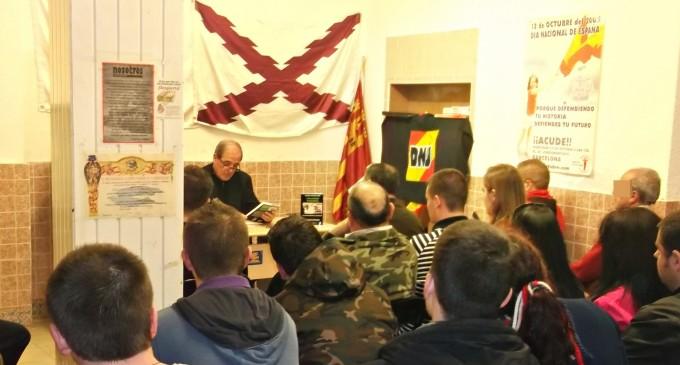 Conferencia en el centro social y nacional EL ALCÁZAR.<br><span style='color:#006EAF;font-size:12px;'>Últimas obras del escritor M. Galiana</span>