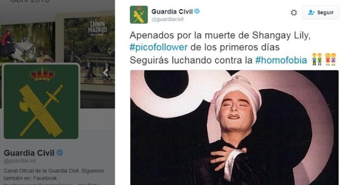 La Guardia Civil en Twitter conmemora a Shangay Lily, un anticristiano promotor de la homosexualización<br><span style='color:#006EAF;font-size:12px;'>Manuel Morillo</span>