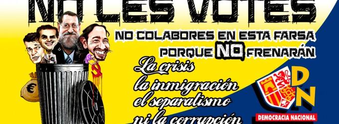 NO LES VOTES<br><span style='color:#006EAF;font-size:12px;'>Nuestra ANTI-CAMPAÑA</span>