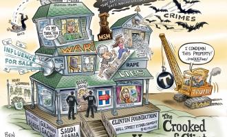 El genial Ben Garrison ironiza sobre los Clinton<br><span style='color:#006EAF;font-size:12px;'>Humor</span>