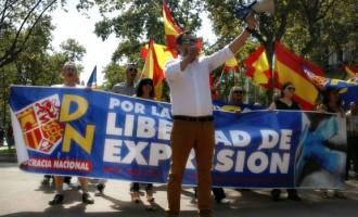 Acto por la libertad de expresión.<br><span style='color:#006EAF;font-size:12px;'>DN se concentró por la libertad de expresión en Barcelona.</span>