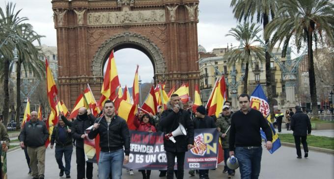 PROTESTA CONTRA LA SENTENCIA BLANQUERNA<br><span style='color:#006EAF;font-size:12px;'>EN BARCELONA</span>