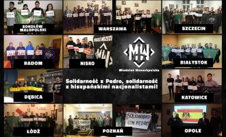 Europa se solidariza con los 14 de Blanquerna.<br><span style='color:#006EAF;font-size:12px;'>Patriotas europeos piden justicia ante las embajadas de España.</span>