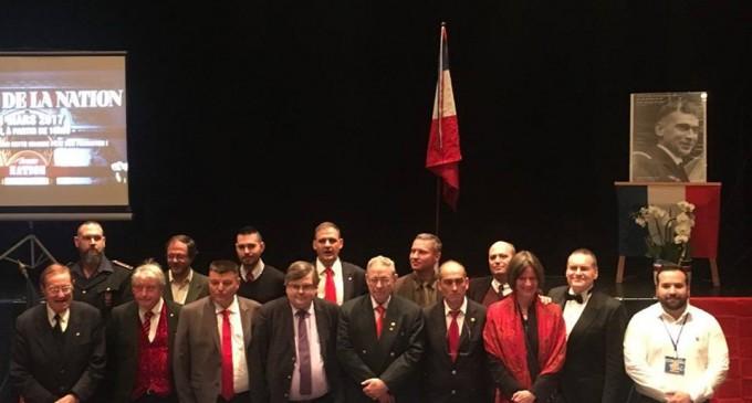 """Encuentro dedicado a analizar la represión en la llamada """"Europa democrática""""<br><span style='color:#006EAF;font-size:12px;'>Democracia Nacional presente en el XIX Fórum de la Nación en Lyon</span>"""