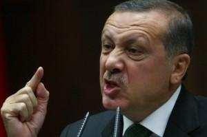 Erdogan en un mitin.