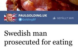 Sueco procesado por comer cerdo cerca de musulmanes.<br><span style='color:#006EAF;font-size:12px;'>La demencial Europa Occidental</span>