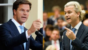 Mark Rutte y Geert Wilders