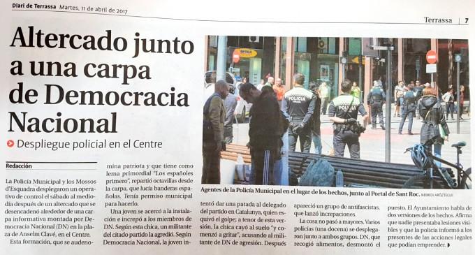 Nueva difamación contra DN en prensa<br><span style='color:#006EAF;font-size:12px;'>Puesto informativo de DN en Terrassa</span>