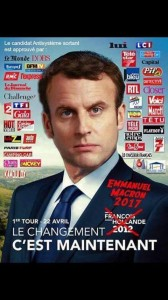 Macron y sus mass media.