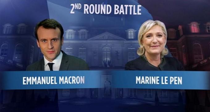 Courage France !<br><span style='color:#006EAF;font-size:12px;'>Macron gana en la segunda vuelta, Marine le Pen duplica en la segunda vuelta de las presidenciales los resultados de su padre en 2002.</span>