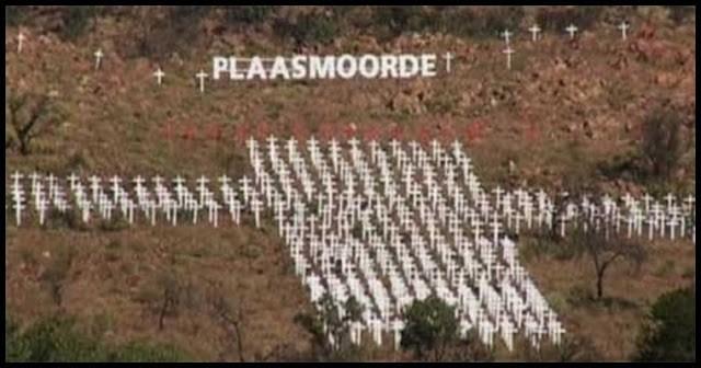 Monumento en recuerdo a los granjeros afrikaaner asesinados. Pietersburg (Polokwane)