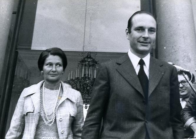 Veil y Chirac en 1975