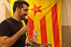 Jordi Borras en un charla de círculos separatistas