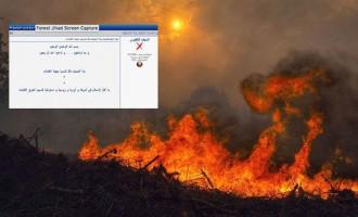 """El """"yihadismo forestal"""" se hace propaganda con la autoría del incendio gallego<br><span style='color:#006EAF;font-size:12px;'>IBERIA EN LLAMAS</span>"""