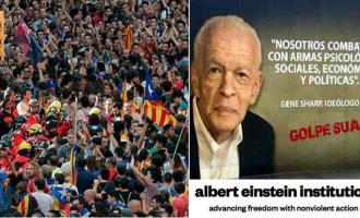 Fallece el ideólogo de las 'revoluciones de colores' y referente de la desobediencia separatista en las calles de Cataluña<br><span style='color:#006EAF;font-size:12px;'>GENE SHARP, IDEÓLOGO DE LA LUCHA NO VIOLENTA </span>