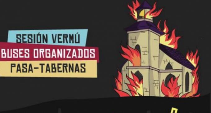 El Ayuntamiento socialista de Lugo paga un festival que se anuncia con una iglesia en llamas<br><span style='color:#006EAF;font-size:12px;'>Odio no. Ni con mi voto, ni con mi dinero</span>