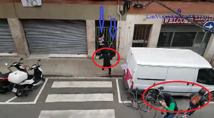 CALLE-JAPÓN-DE-BARCELONA-ESPAÑA-17.2018.-Encapuchado-miembro-de-las-organizaciones-xenófobas-CDR-y-UCFR.-Lasvocesdelpueblo