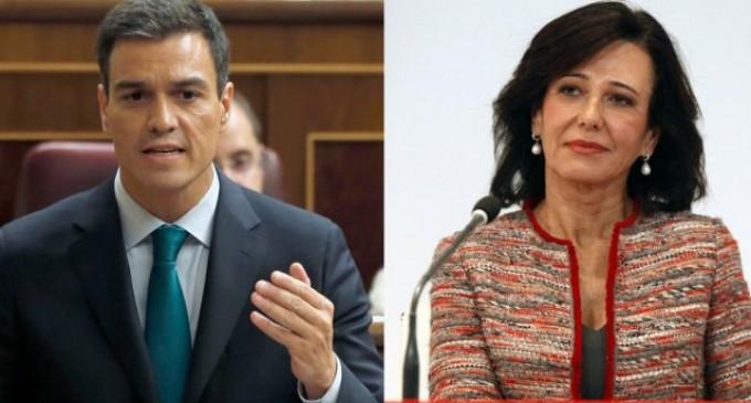 """Sánchez tranquiliza a la banca y traslada ahora al sector que su impuesto no es """"inminente""""<br><span style='color:#006EAF;font-size:12px;'>¿PARA QUIÉN TRABAJA SÁNCHEZ?</span>"""