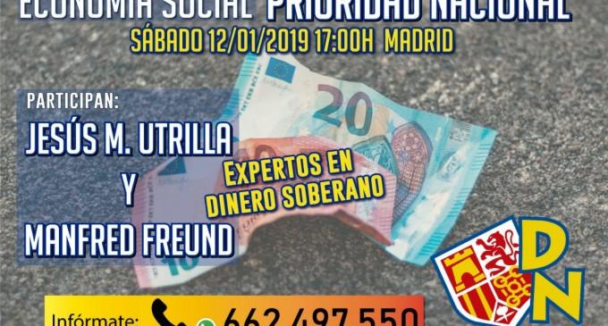 """Conferencia:""""Soberanía monetaria: condición necesaria para salir de la crisis""""<br><span style='color:#006EAF;font-size:12px;'>ACTO PÚBLICO, MADRID, 12 DE ENERO 17:h</span>"""