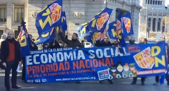 Comunicado por la soberanía monetaria frente al Banco de España<br><span style='color:#006EAF;font-size:12px;'>Protesta simbólica de DN.</span>