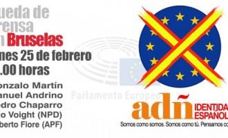 Rueda de prensa en el parlamento Europeo.<br><span style='color:#006EAF;font-size:12px;'>'El futuro de las verdaderas fuerzas patriotas en España por la Unidad y la Libertad'</span>