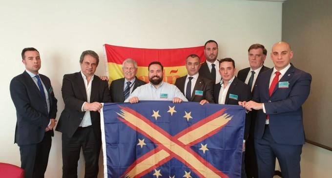 Crónica del acto de DN y Falange (ADÑ) en el Parlamento Europeo<br><span style='color:#006EAF;font-size:12px;'>A PESAR DE LA PROHIBICIÓN</span>