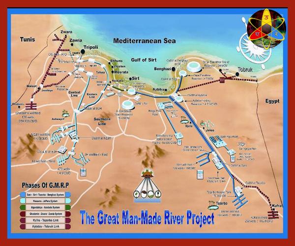 proyecto agua Gadafi