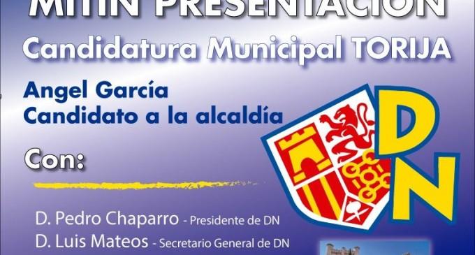 Mitin presentación candidatura DN en Torija (Castilla la Mancha)<br><span style='color:#006EAF;font-size:12px;'>ELECCIONES MUNICIPALES</span>