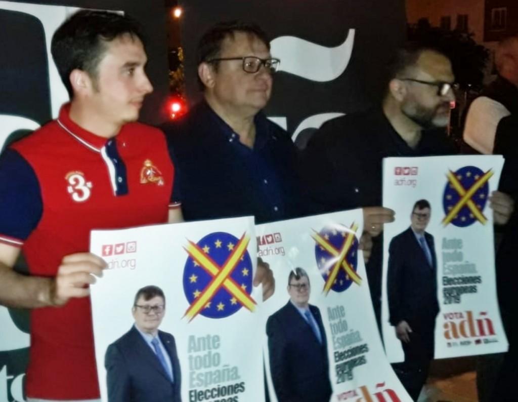 los 3 candidatos que encabezan las listas a la Eurocámara, de izq a drch, Chaparro, Ynestrillas, Picó.