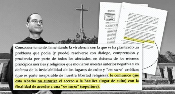 Fray Santiago Cantera.<br><span style='color:#006EAF;font-size:12px;'>El prior resiste a la profanación del Valle de los Caídos.</span>