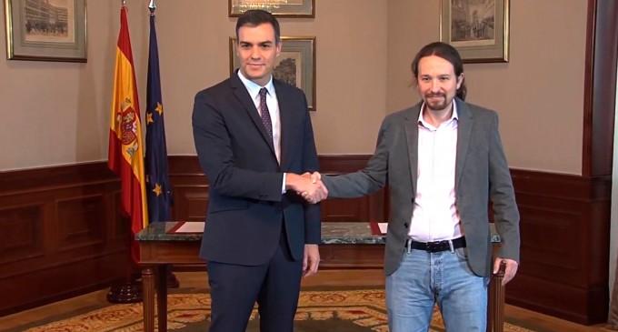 Ante el acuerdo entre Pedro Sánchez y Pablo Iglesias<br><span style='color:#006EAF;font-size:12px;'>COMUNICADO</span>