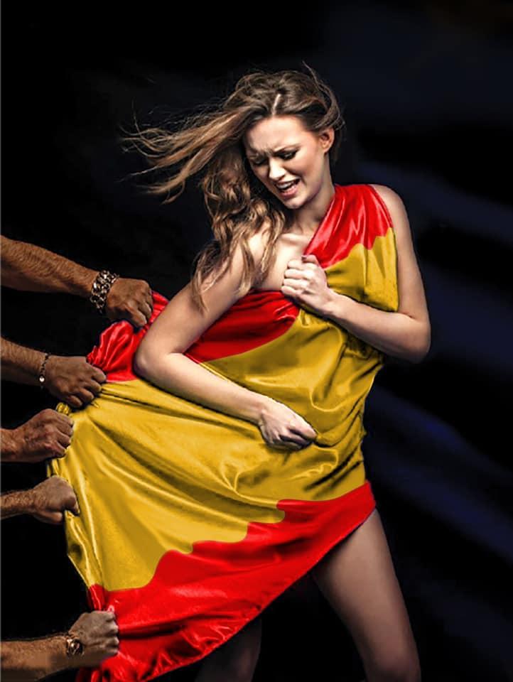 española violada