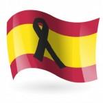 bandera-de-espana-con-crespon-negro