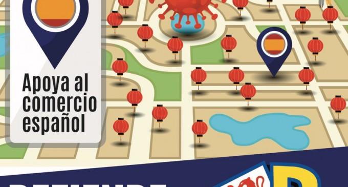 DEFIENDE LO TUYO. Apoya al comercio español<br><span style='color:#006EAF;font-size:12px;'>BOICOT A LOS COMERCIOS CHINOS</span>