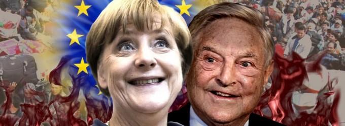 Merkel y Soros anuncian la destrucción de los Estados Nación de Europa<br><span style='color:#006EAF;font-size:12px;'>RADIO AQUÍ LA VOZ DE EUROPA</span>