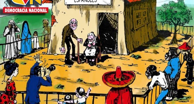 El PSOE estima que harán falta 250.000 inmigrantes al año para pagar las pensiones<br><span style='color:#006EAF;font-size:12px;'>GENOCIDIO ESPAÑOL</span>