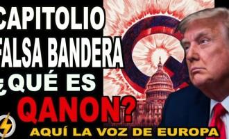 Capitolio FALSA BANDERA ¿qué es QANON?<br><span style='color:#006EAF;font-size:12px;'>RADIO AQUÍ LA VOZ DE EUROPA</span>