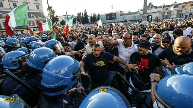 no gree pass manifestazione roma 28 agosto 2021