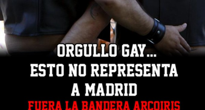NO A LA BANDERA ARCOIRIS EN NUESTROS AYUNTAMIENTOS, NO NOS REPRESENTA<br><span style='color:#006EAF;font-size:12px;'>LOBBY HOMOSEXUAL</span>