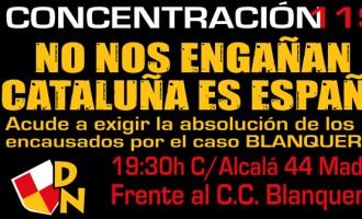 NO NOS ENGAÑAN, CATALUÑA ES ESPAÑA<br><span style='color:#006EAF;font-size:12px;'>CONCENTRACIÓN 11S </span>