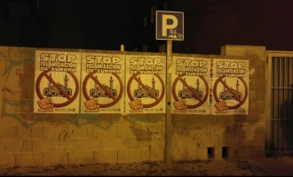 CARTELADA EN VALLADOLID<br><span style='color:#006EAF;font-size:12px;'>STOP ISLAMIZACIÓN DE EUROPA</span>