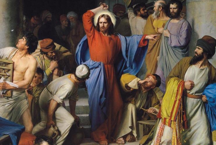 Jesús con el látigo en el templo