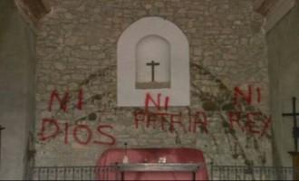 La ultraizquierda ataca a la Iglesia<br><span style='color:#006EAF;font-size:12px;'>STOP VIOLENCIA IZQUIERDISTA</span>